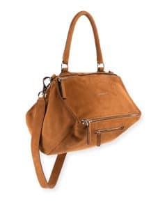 Givenchy Beige Nubuck Pandora Medium Satchel Bag