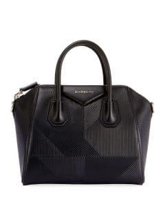 Givenchy Black Embossed Small Antigona Bag