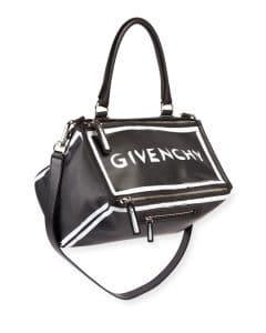 Givenchy Black Graffiti Medium Pandora Satchel Bag