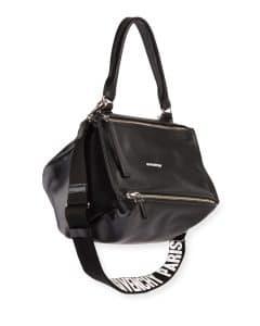 Givenchy Black Logo-Strap Pandora Small Satchel Bag