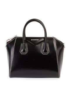 Givenchy Black Smooth Leather Small Antigona Bag