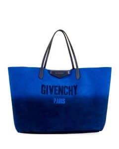 Givenchy Blue/Silver Gradient Antigona Large Shopping Tote Bag
