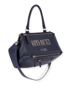 Givenchy Dark Bubble Logo Bubble Medium Pandora Satchel Bag