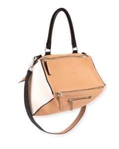 Givenchy Light Beige Bicolor Pandora Medium Satchel Bag