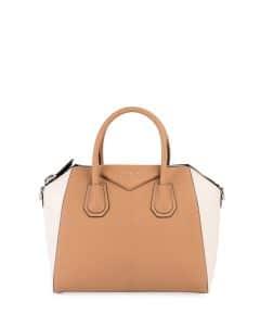 Givenchy Light Beige/Off-White Bicolor Small Antigona Bag