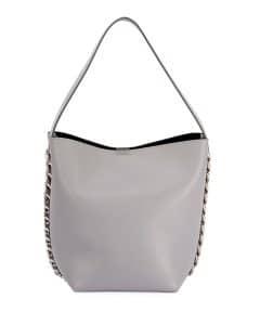 Givenchy Light Gray Infinity Chain Bucket Bag