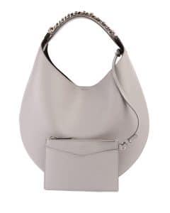 Givenchy Light Gray Infinity Medium Chain Hobo Bag