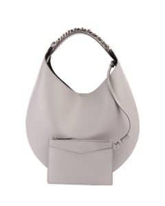 Givenchy Light Gray Infinity Small Chain Hobo Bag