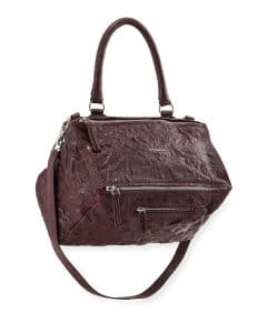 Givenchy Maroon Pandora Pepe Medium Satchel Bag