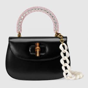 Gucci Black Bamboo Top Handle Bag
