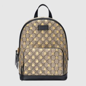 Gucci GG Supreme Bees Backpack Bag