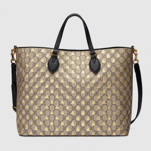 Gucci GG Supreme Bees Tote Bag