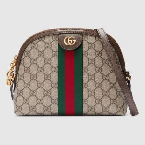 Gucci GG Supreme Ophidia Domed Shape Shoulder Bag