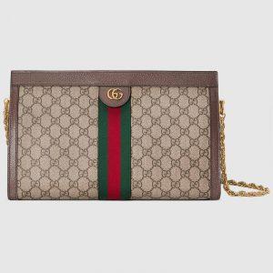 Gucci GG Supreme Ophidia Medium Shoulder Bag