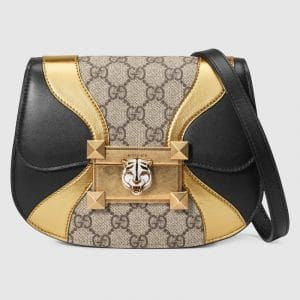 Gucci GG Supreme and Leather Osiride Shoulder Bag