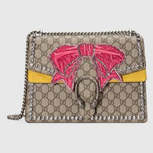 Gucci GG Supreme with Bow Dionysus Medium Shoulder Bag