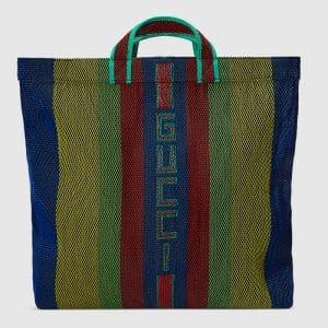 Gucci Multicolor Woven Rubber Tote Bag