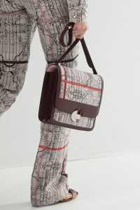 Hermes Brown Printed 2002 Flap Bag - Spring 2018
