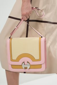Hermes Pink/Yellow 2002 Flap Bag - Spring 2018