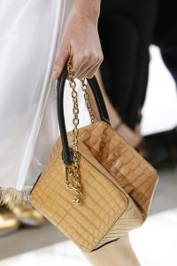 Louis Vuitton Beige Crocodile Cube-Shaped Top Handle Bag - Spring 2018