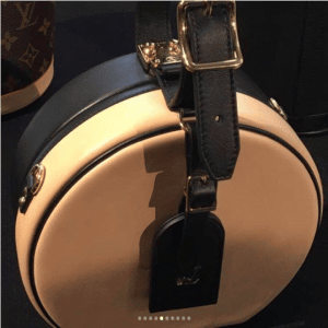 Louis Vuitton Beige/Black Mini Hat Box Bag