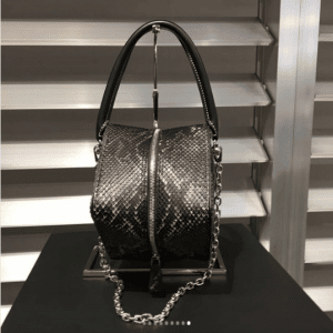 Louis Vuitton Black Python Cube-Shaped Bag