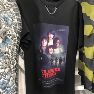Louis Vuitton Black Stranger Things Print T-Shirt