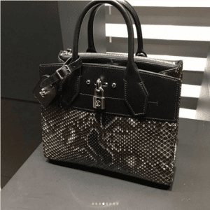 Louis Vuitton Black/Brown Python City Steamer Bag