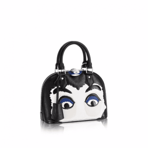 Louis Vuitton Black/White Epi Kabuki Mask Alma BB Bag