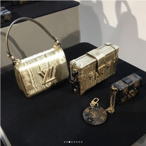 Louis Vuitton Gold Twist/Petite Malle and Mini Malle Bags
