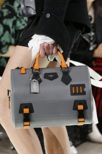 Louis Vuitton Gray/Orange Speedy Bag - Spring 2018