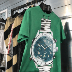 Louis Vuitton Green Watch Print T-Shirt