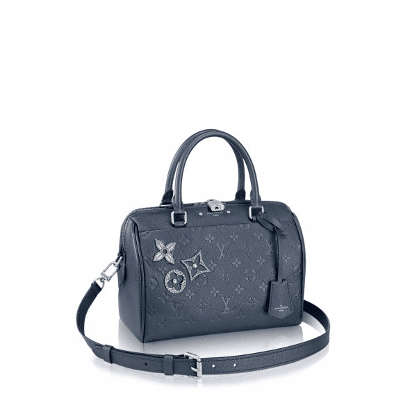 Louis Vuitton Marine Metal Monogram Empreinte with Pins Speedy Bandoulière 25 Bag