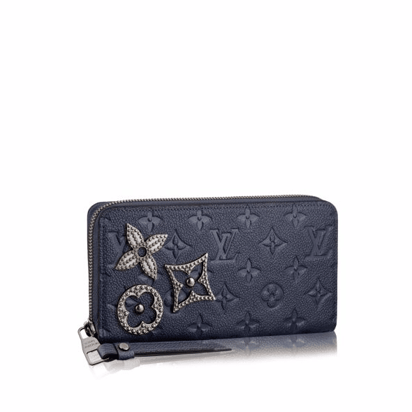 Louis Vuitton Marine Metal Monogram Empreinte with Pins Zippy Wallet