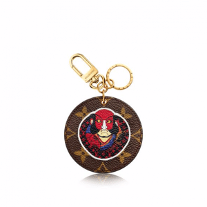 Louis Vuitton Monogram Canvas Illustré Kabuki Bag Charm and Key Holder