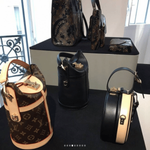 Louis Vuitton Monogram Canvas and Black Bucket Bags and Beige:Black Mini Hat Box 2