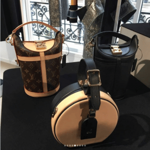 Louis Vuitton Monogram Canvas and Black Bucket Bags and Beige/Black Mini Hat Box