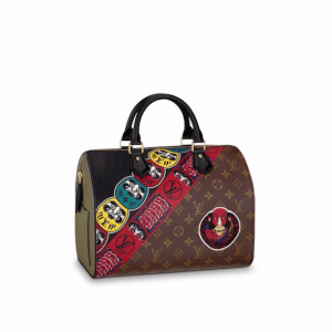 Louis Vuitton Monogram Canvas and Epi with Kabuki Stickers Speedy 30 Bag