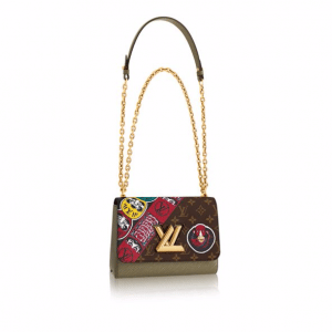 Louis Vuitton Monogram Canvas and Epi with Kabuki Stickers Twist MM Bag