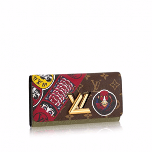 Louis Vuitton Monogram Canvas and Epi with Kabuki Stickers Twist Wallet