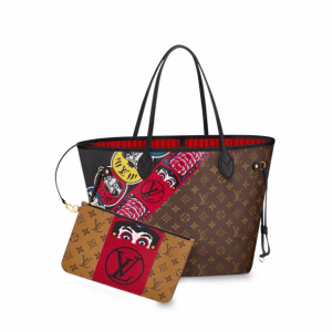 Louis Vuitton Monogram Canvas and Monogram Reverse with Kabuki Stickers Neverfull MM Bag