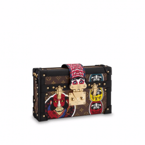 Louis Vuitton Monogram Canvas with Kabuki Stickers Petite Malle Bag