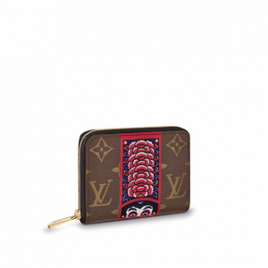 Louis Vuitton Monogram Canvas with Kabuki Stickers Zippy Coin Purse