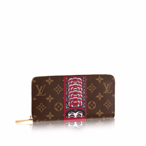 Louis Vuitton Monogram Canvas with Kabuki Stickers Zippy Wallet