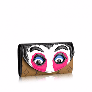 Louis Vuitton Monogram Reverse and Epi Kabuki Mask Sarah Wallet