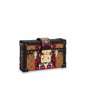 Louis Vuitton Monogram Reverse with Kabuki Stickers Petite Malle Bag