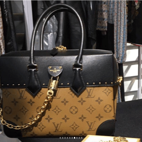 af4dc656518f Louis Vuitton Monogram Reverse Black Top Handle Bag. IG  eliaszeng