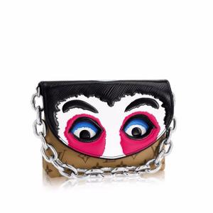 Louis Vuitton Monogram Reverse/Fuchsia Epi Kabuki Masks Pochette Bag