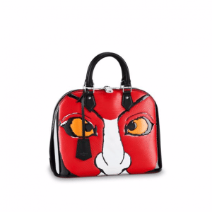 Louis Vuitton Red/Black Epi Kabuki Mask Alma PM Bag