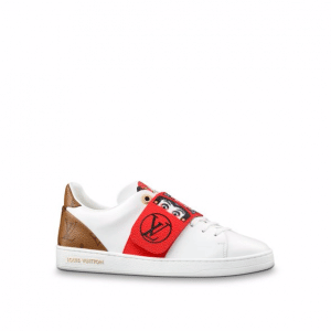 Louis Vuitton White Calf Leather:Monogram Reverse with Kabuki Stickers Kyoto Sneaker